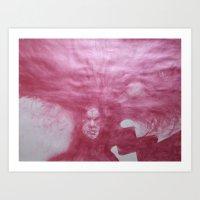 silent shout Art Print