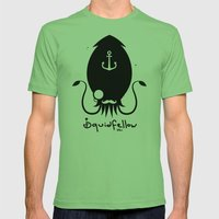 Squidfellow Logo Mens Fitted Tee Grass SMALL