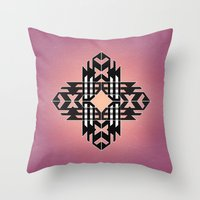 Aztec Track Throw Pillow