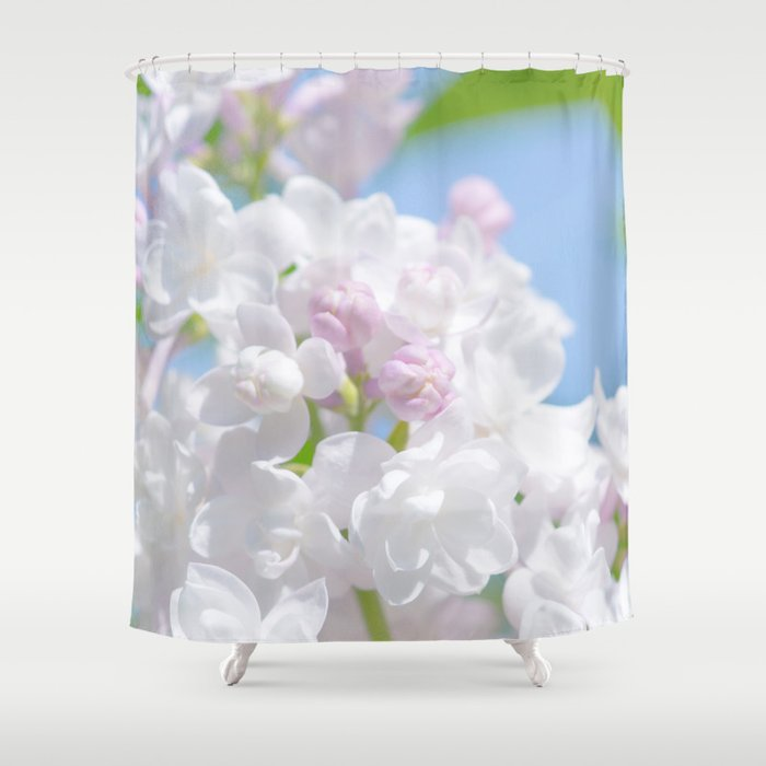 Lilac Flower Shower Curtain By Digital2real