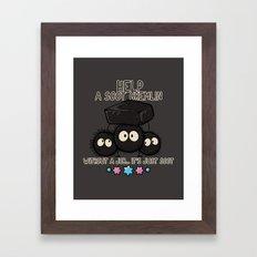 HELP A SOOT GREMLIN Framed Art Print