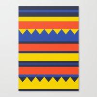 Triangles Jungle Canvas Print