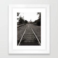 Railroad Tracks Framed Art Print