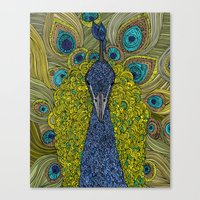 Mr. Pavo Real Canvas Print