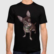 Taco T. Man (Chihuahua) Mens Fitted Tee Black SMALL