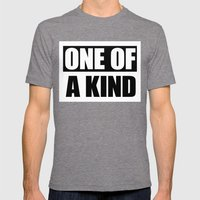 One of a Kind Mens Fitted Tee Tri-Grey SMALL