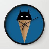 Black Vanilla Bat Wall Clock