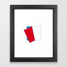 #76 Peeling off – Geometry Daily Framed Art Print
