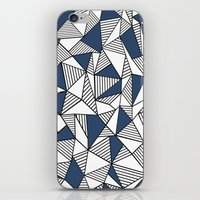 Abstraction Lines with Navy Blocks iPhone & iPod Skin