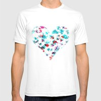Floral Mens Fitted Tee White SMALL