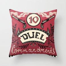 Ten Duel Commandments Throw Pillow
