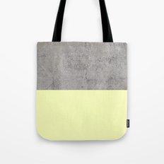 Yellow On Concrete Tote Bag
