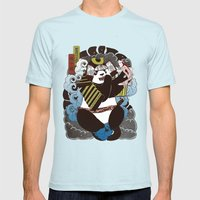 Pantoo Mens Fitted Tee Light Blue SMALL