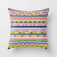 Summer Doodle Throw Pillow