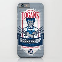 iPhone & iPod Case featuring Logan's Barbershop by Ben Douglass