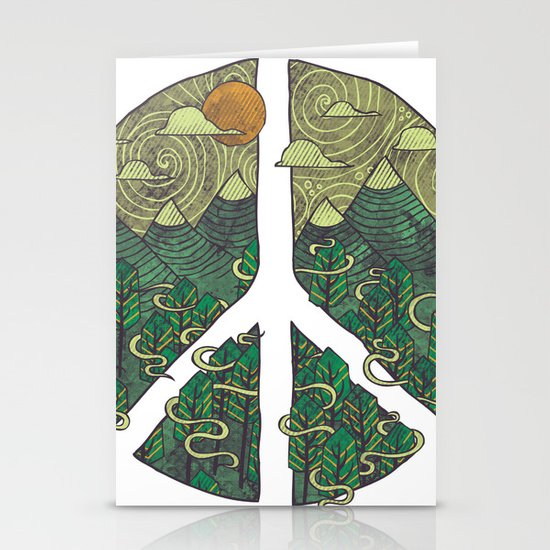 Peaceful Landscape Stationery Card