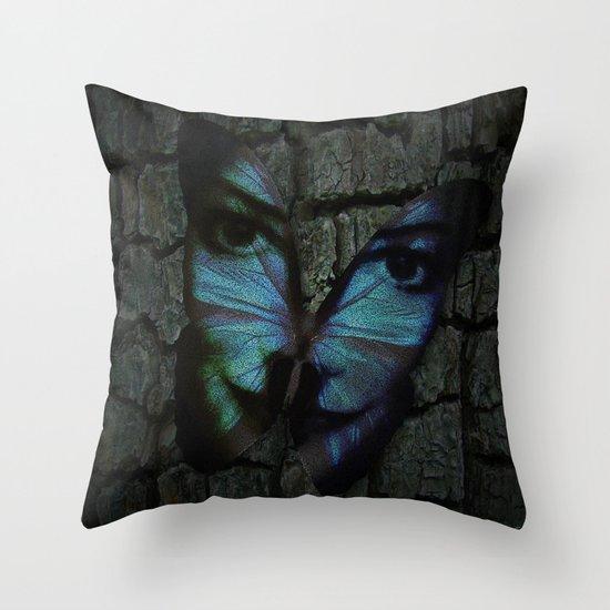 AM I A BUTTERFLY DREAMING I AM AN HUMAN Throw Pillow