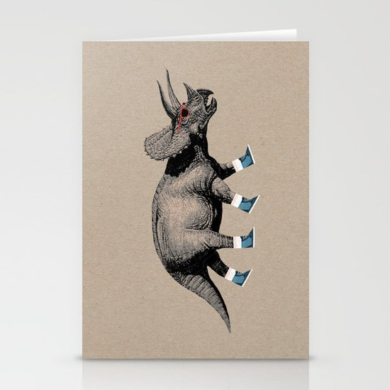 Triceratops Stationery Card