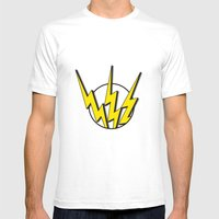 Flash Mens Fitted Tee White SMALL