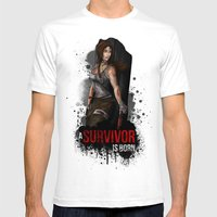 The Survivor Mens Fitted Tee White SMALL