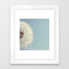 Make a wish  Framed Art Print