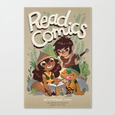 Read Comics Poster Canvas Print