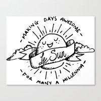 Le Sun Canvas Print
