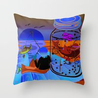 Fish Tales Throw Pillow