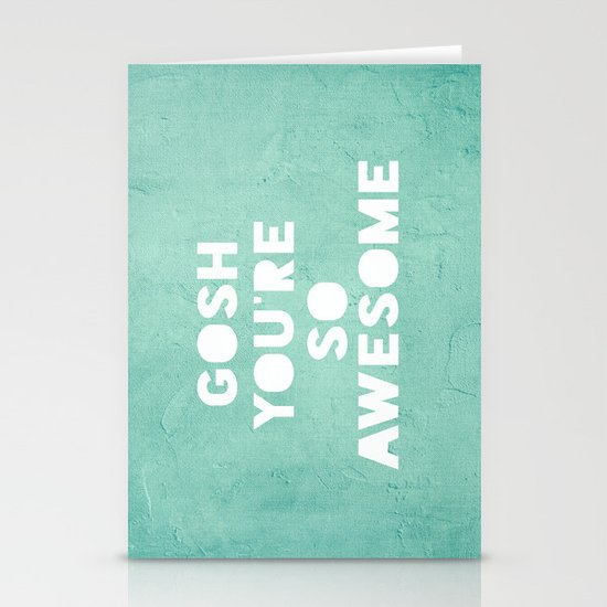 Gosh Stationery Card