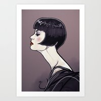 Bobbed Flapper  Art Print