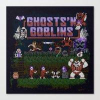 Ghosts n' Goblins Canvas Print