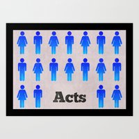 The Book Of Acts (with T… Art Print