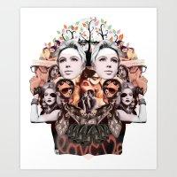 Skullage Art Print