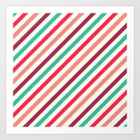 Striped. Art Print