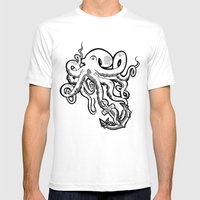 Octopus Love Mens Fitted Tee White SMALL