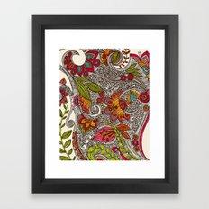 Random Flowers Framed Art Print