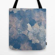 Airforce Blue Floral Hues  Tote Bag