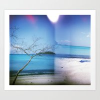 Beach Multiple Exposure Art Print