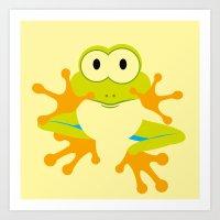 Minimal Tree Frog Art Print