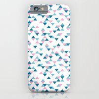 Triangles Blue and Pink Repeat iPhone 6 Slim Case