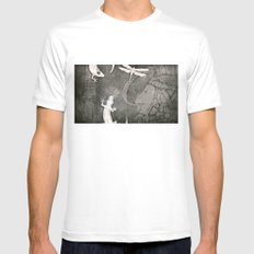 Lost City 2 SMALL White Mens Fitted Tee