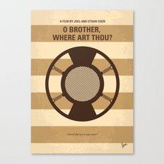 No055 My O Brother Where Art Thou minimal movie poster Canvas Print