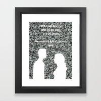 Just Being Framed Art Print