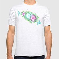 Om Sharpie Doodle Mens Fitted Tee Ash Grey SMALL