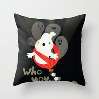 Ghost busters Throw Pillow