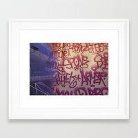 Graffiti on Abercrombie 01 Framed Art Print