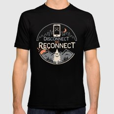 Reconnect... Mens Fitted Tee SMALL Black