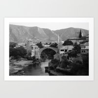 The Old Bridge, Mostar Art Print