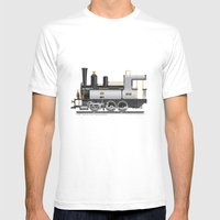 Locomotive Mens Fitted Tee White SMALL