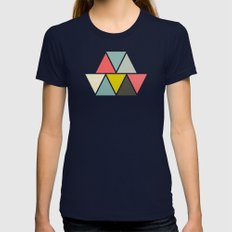 Triangulum Womens Fitted Tee Navy SMALL